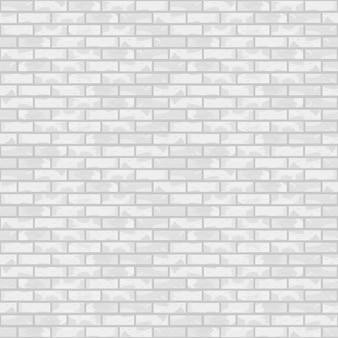 Naadloze witte bakstenen muur,