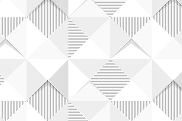 Naadloze witte geometrische driehoek patroon achtergrond ontwerp resource Gratis Vector