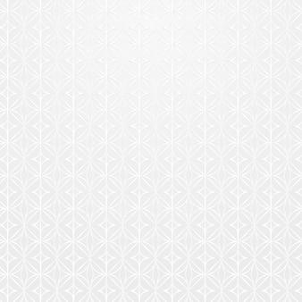 Naadloze witte ronde geometrische patroon achtergrond