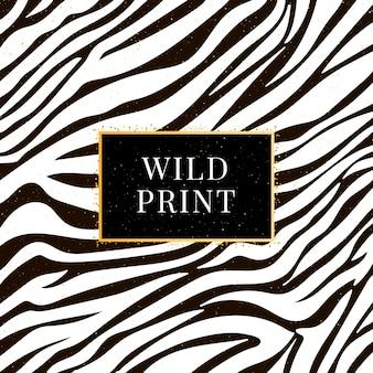Naadloze zebrapatroon wilde print