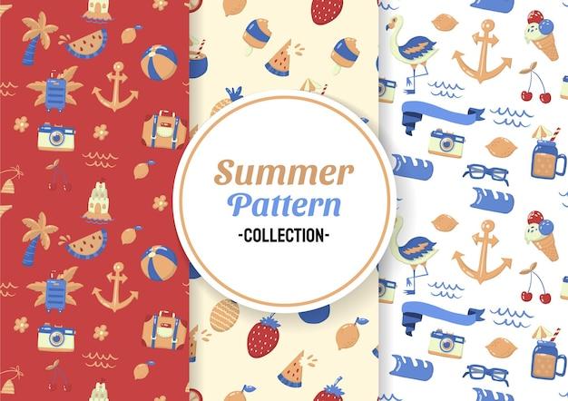 Naadloze zomer patroon
