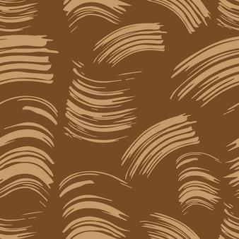 Naadloze zwart-wit patroon abstracte achtergrond opdruk vlek uitstrijkje mascara borstel vlek