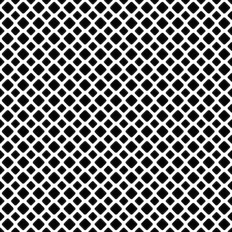 Naadloze zwart-witte diagonale vierkante grid patter achtergrond - vector grafisch ontwerp