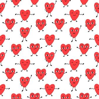Naadpatroon met grappige harten voor valentijnsdag