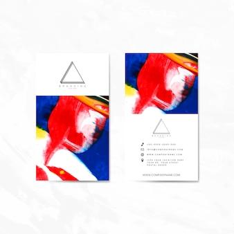 Naamkaart ingesteld voor ontwerp bedrijf vector set