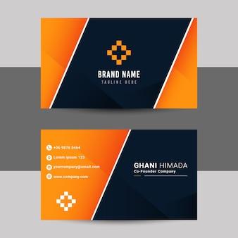 Naamkaart voor- en achterkant ontwerpsjabloon.