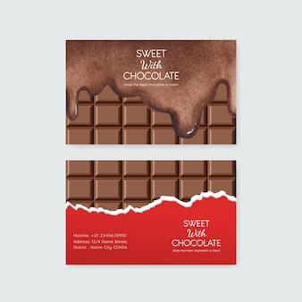 Naamkaartsjabloon met wereldchocoladedagconcept