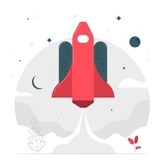 Naar de sterren concept illustratie
