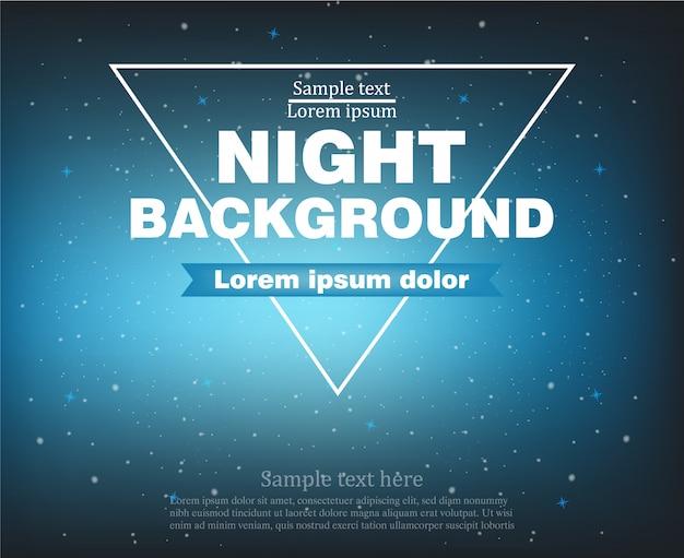 Nacht banner achtergrond