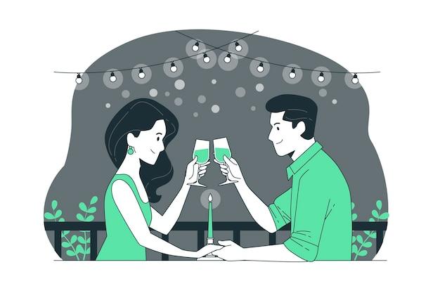 Nacht datum concept illustratie