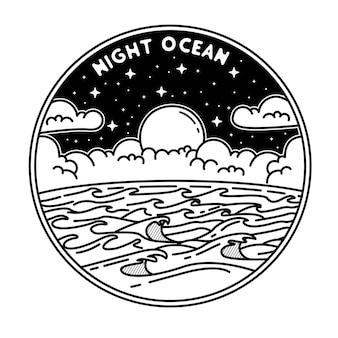 Nacht oceaan