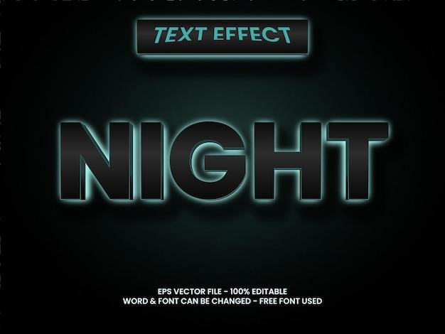Nacht teksteffectstijl bewerkbaar teksteffect donker licht syle