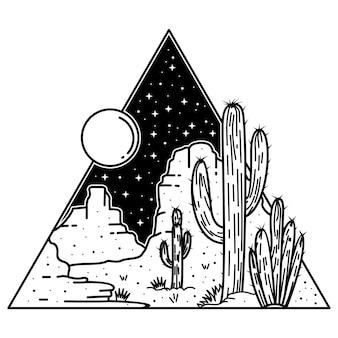Nacht woestijn