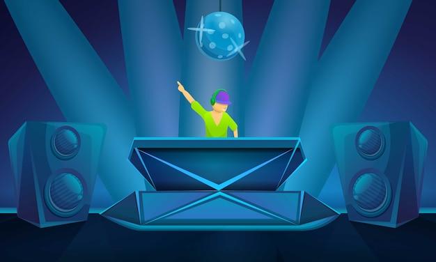 Nachtclub partij concept illustratie, cartoon stijl