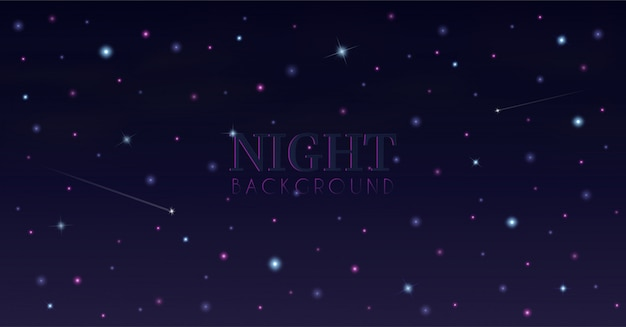 Nachtelijke hemel de en van de sterren.