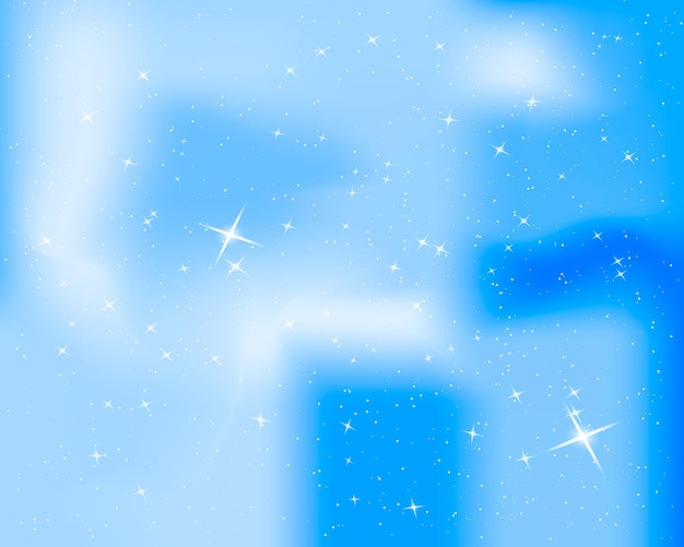 Nachtelijke hemel met sterren en wolken. sparkle sterrenhemel blauwe achtergrond.