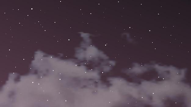 Nachtelijke hemel met wolken en veel sterren. abstracte aardachtergrond met stardust in diep heelal. vector illustratie.