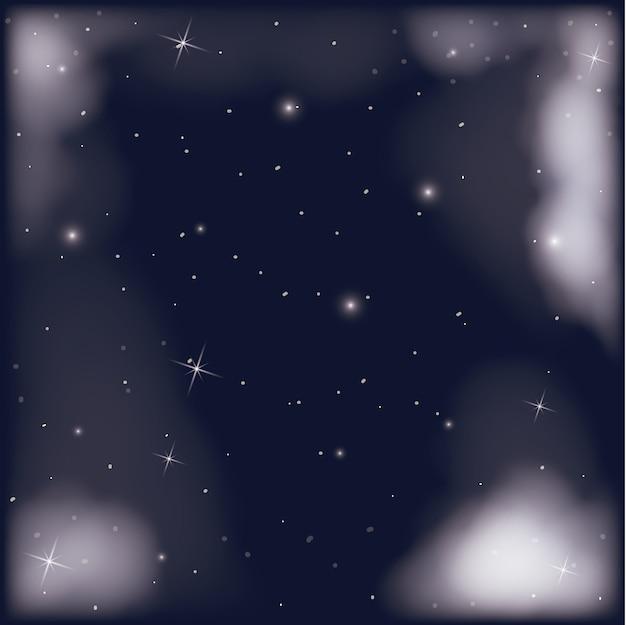Nachtelijke hemelscène