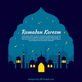 Nachtelijke ramadan achtergrond