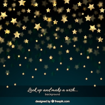 Nachthemel met gouden sterren