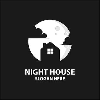 Nachthuis logo concept met boom-element.