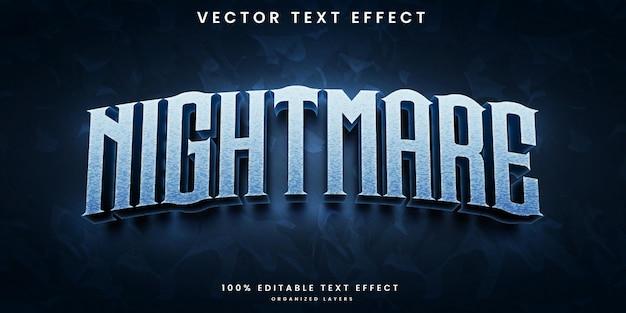 Nachtmerrie bewerkbaar teksteffect