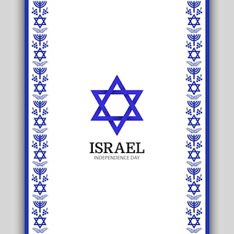 Nafhankelijkheidsdag van israël. nationaal patroon en symbool.