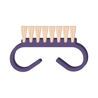 Nagelborstel pictogram manicure tool zorg voor de gezondheid van handen en nagels element voor een schoonheidssalon vlakke afbeelding