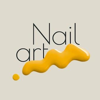 Nagelkunst bedrijfslogo vector creatieve kleur verfstijl