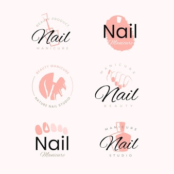 Nagels art studio logo's sjabloon