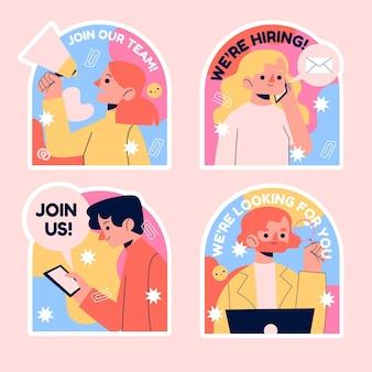 Naïeve aanwerving en doe mee met het verzamelen van stickers