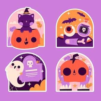 Naïeve collectie halloween-stickers