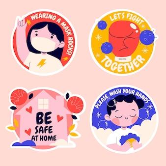 Naïeve coronavirus-stickercollectie