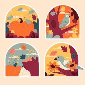 Naïeve herfststickers collectie