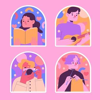 Naïeve hobby-stickers verzamelen