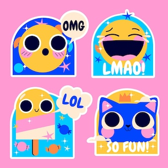 Naïeve lol stickers collectie