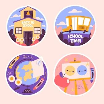 Naïeve terug naar school stickers collectie