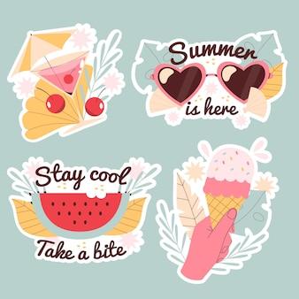 Naïeve zomerse stickers set