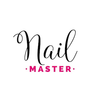 Nail master calligraphic lettering