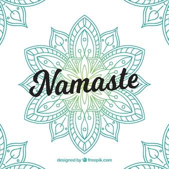 Namaste achtergrond met handgetekende mandala