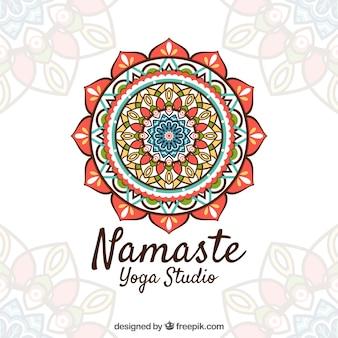 Namaste achtergrond met mooie mandaa