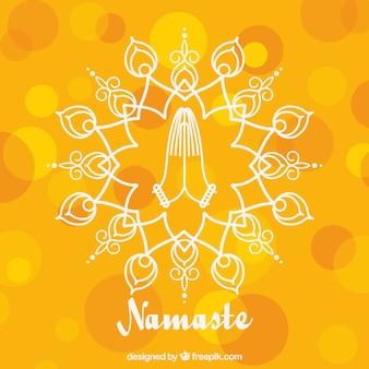Namaste gebaar met abstracte stijl