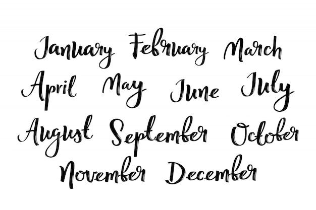 Namen van maanden