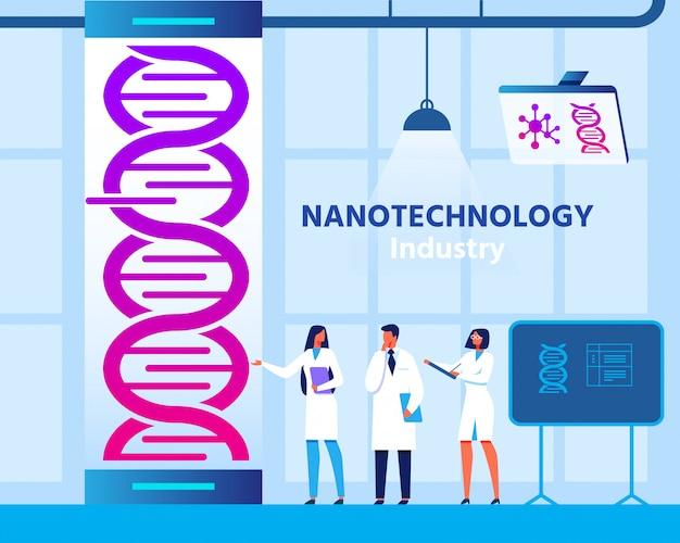 Nanotechnologie genetisch engineering laboratorium