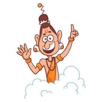 Narad muni cartoon afbeelding