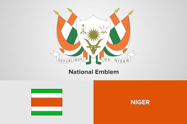 Nationaal embleem en vlagsjabloon