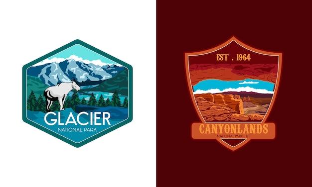 Nationaal park embleem vector