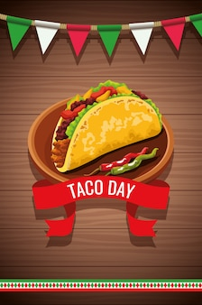 Nationaal taco day celebration-ontwerp