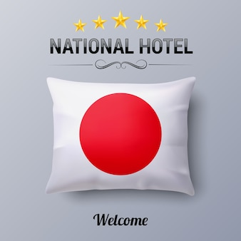 National hotel illustratie