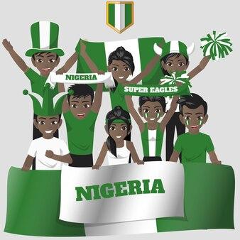 National team supporter van nigeria